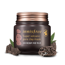 Innisfree Super Volcanic Pore Clay Mask 100ml - www.gembira.com.my