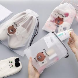 Broun Bear Transparent Beauty Bag