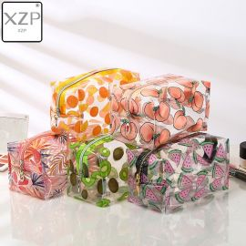 XZP Waterproof Transparent Cosmetic Cute Bags Storage Pouch Makeup Organizer Approved Clear Case Toiletry Bag PVC Zipper Travel