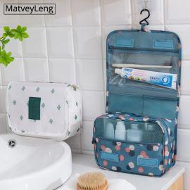 MatveyLeng Bathroom Hanging Cosmetic Bag
