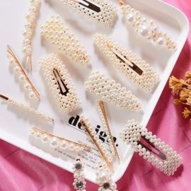 Fresh Trendy Pearl Hair Clips, Hair Pins - Gembira.com.my