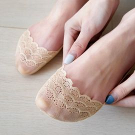Lady Lace Breathable Anti-slip No Show/Liner Socks - GEMBIRA.com.my
