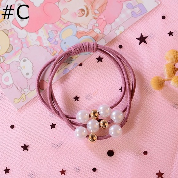 Pearl & Colorful Hair Bands/ Hair Ties - GEMBIRA.com.my
