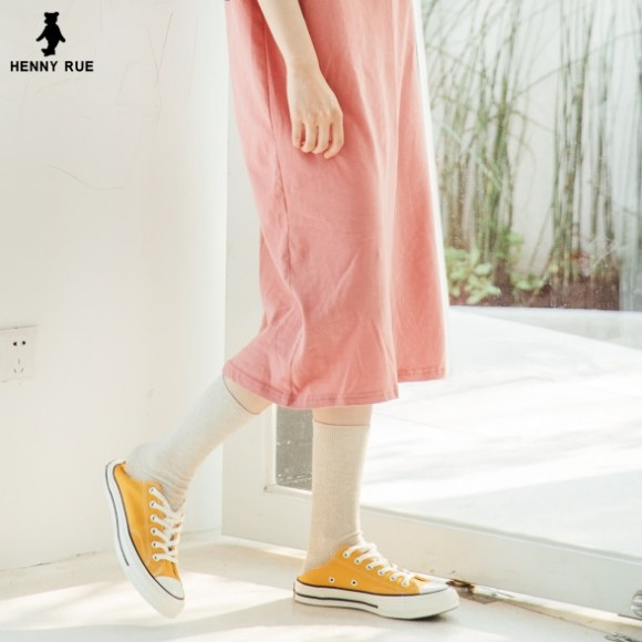 Retro Japanese Pure Cotton Long Socks - GEMBIRA.com.my