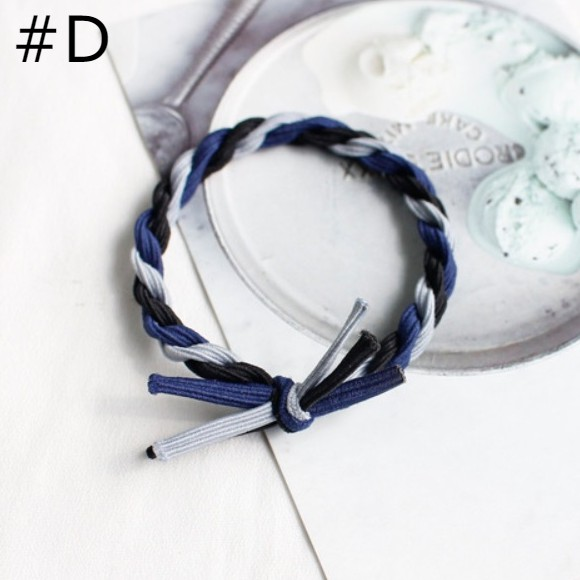 Fashion Color Matching Twisted Hair Bands/ Hair Ties - GEMBIRA.com.my