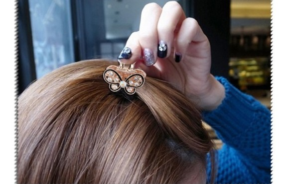Gorgeous Diamond Butterfly Hair Clips - GEMBIRA.com.my