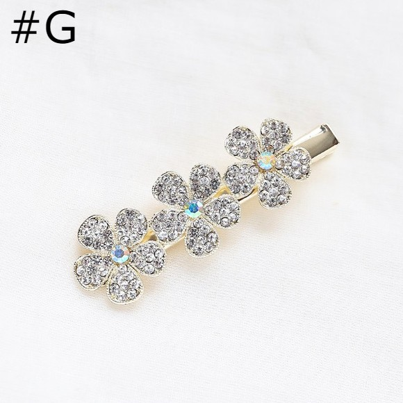 Flower Diamond Duckbill Hair Clips - GEMBIRA.com.my