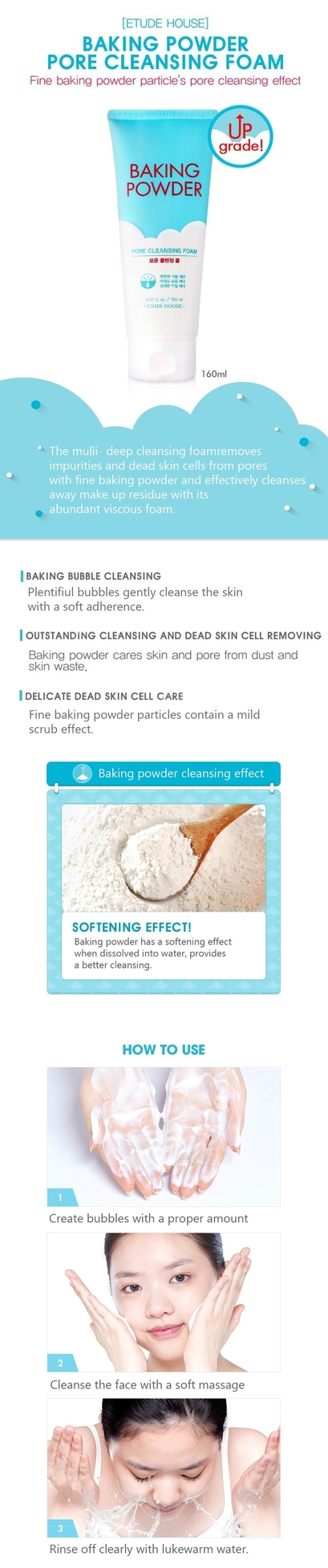 Etude House Baking Powder Pore Cleansing Foam - www.gembira.com.my